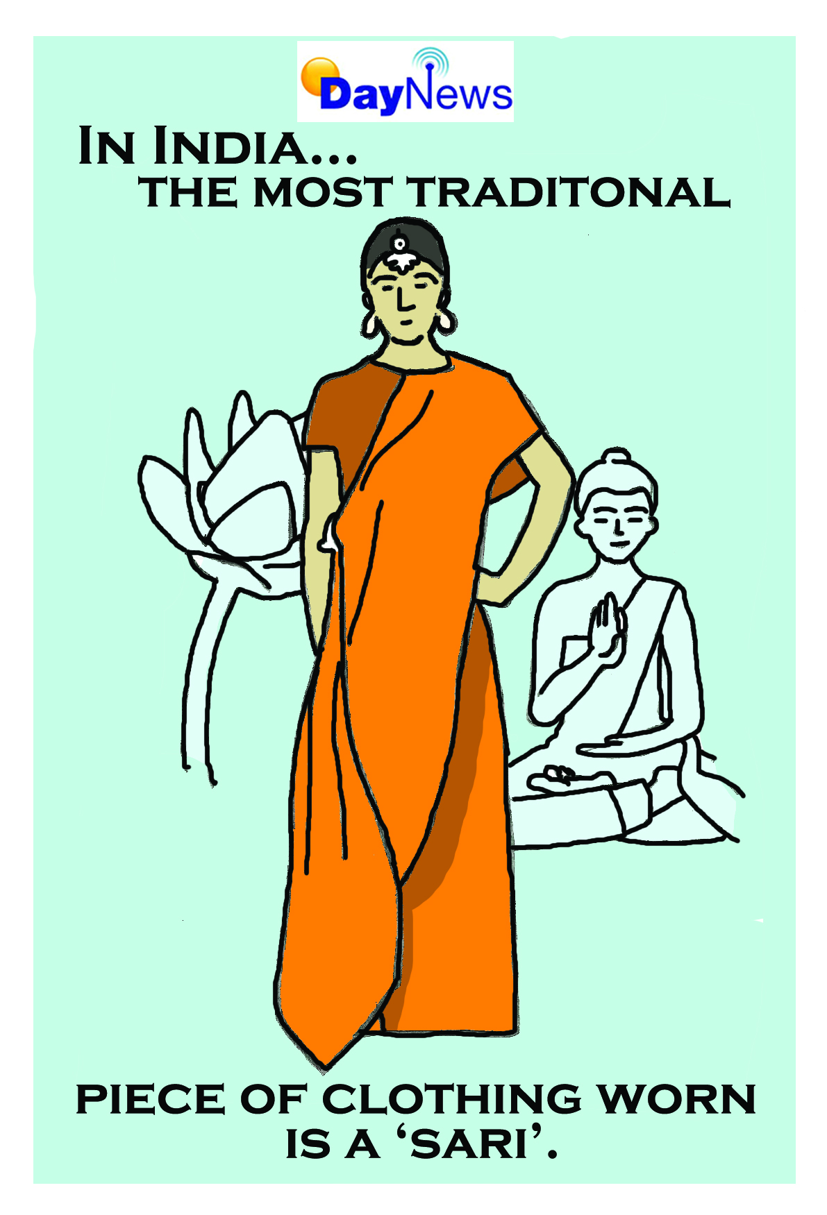 India Sari - Day News Cartoon Of The Day