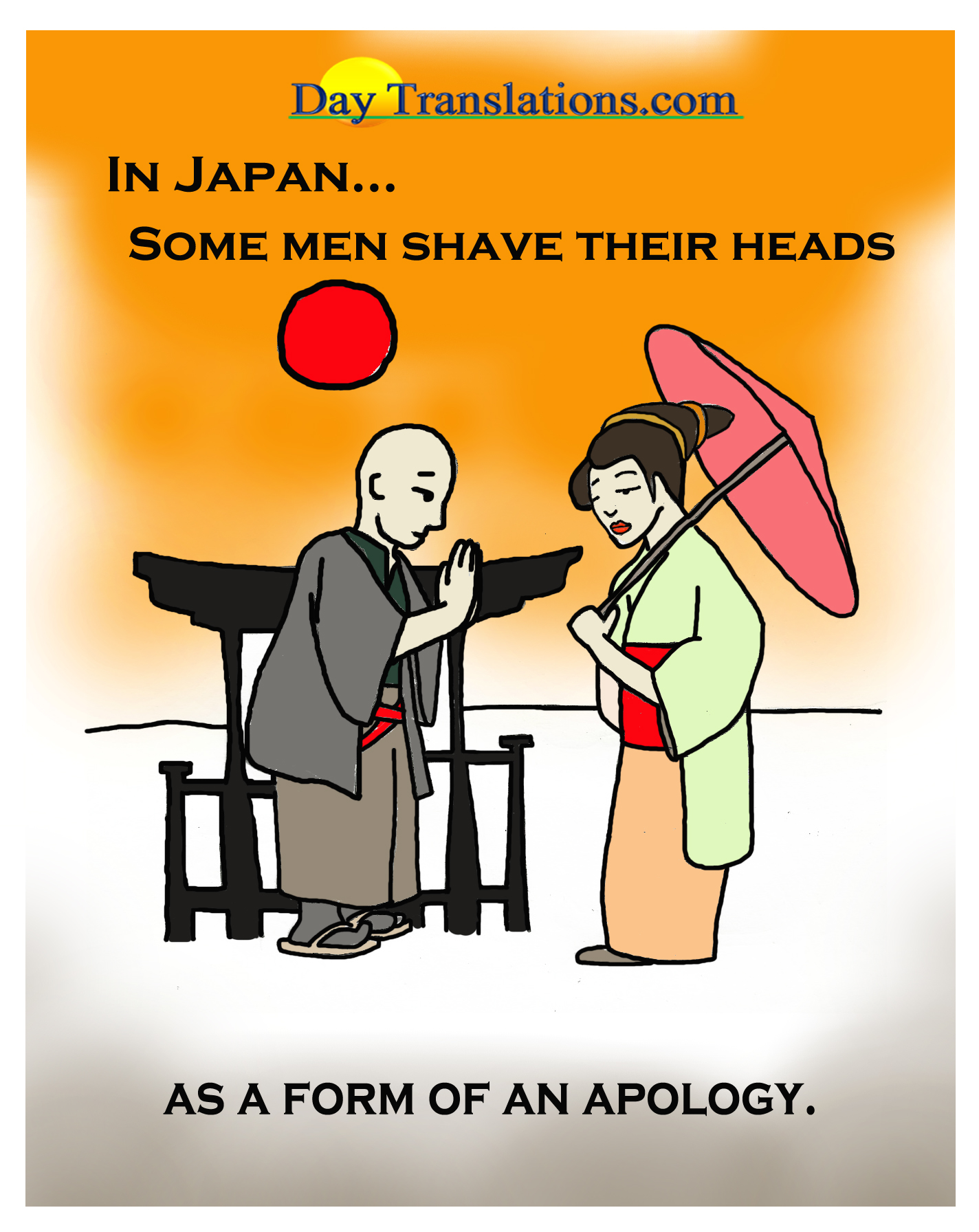Japan-Shaved Heads - Day News Cartoon Of The Day