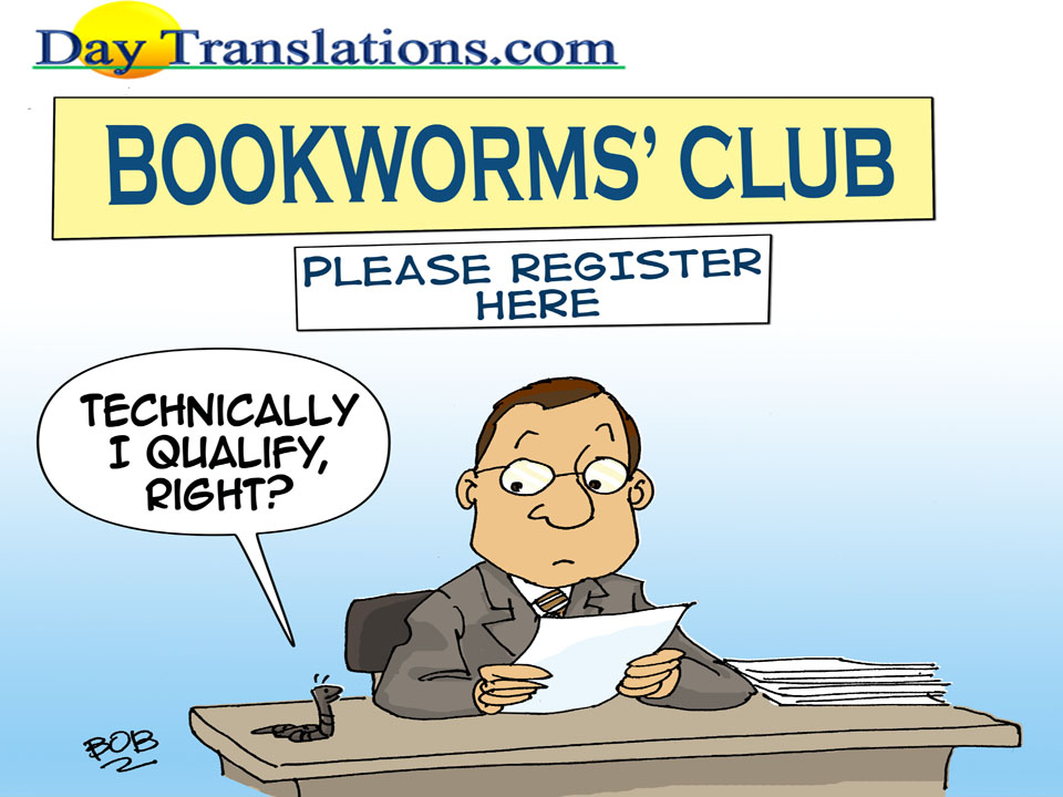 Bookworm - Cartoon of the day