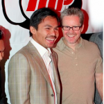 Manny Pacquiao with Coach Freddie Roach