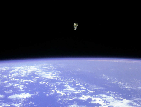 Astronaut in Free Space