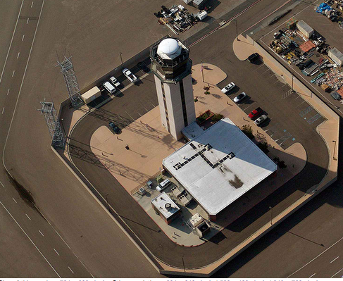 Image credit: KSan Control Tower taken by Intersofia (talk | contribs) under Public Domain.