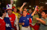Chile Celebrates Win over Spain