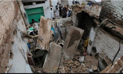 House Destroyed By Earthquake