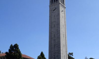 61168520 - october 2015 - berkeley: sather tower and the campus of the university of california at berkeley, california.