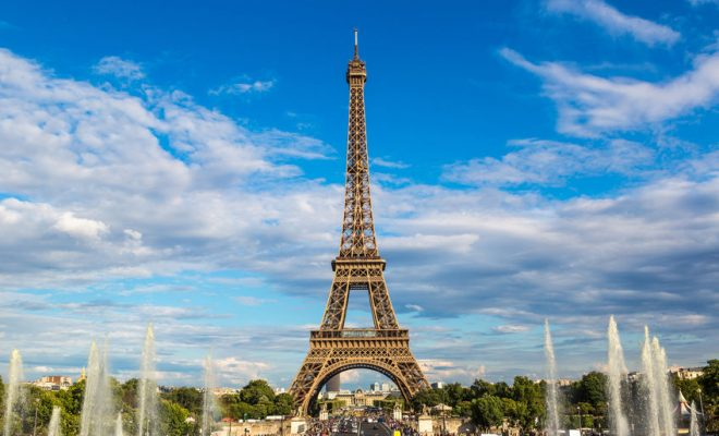 41808117 - eiffel tower most visited monument in france and the most famous symbol of paris