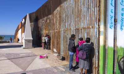 Mexican Families Meets Relatives at the Border Wall